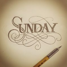 Sometimes I get carried away with my warm up…still needs some work. #lettering #handlettering #sunday (Taken with Instagram)