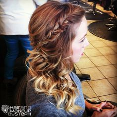 Fishtail braid updo. love this look! you can pull this off any day of the week.  made casual, fun, classy or elegant!