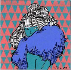 """GIRLY GIRL (with furs)"" - Hellen Jo Comics & Illustration http://helllllen.org/fart/yeoja_5.jpg"
