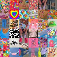 80pc Indie and Kidcore Wall Collage Kit