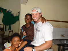 Missioner with two of the children at the Child Rescue Centre, Bo, Sierra Leone