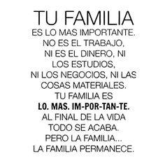 Tu familia es lo más importante...