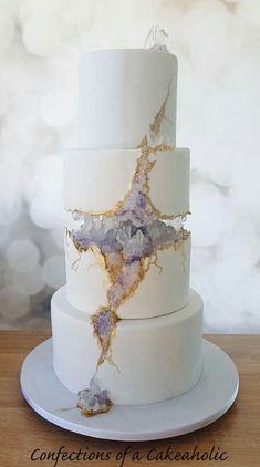 Sunday Sweets: The New & Improved Geode Cakes — Cake Wrecks<br> Beautiful Wedding Cakes, Gorgeous Cakes, Pretty Cakes, Cute Cakes, Amazing Cakes, Modern Wedding Cakes, Fancy Wedding Cakes, Modern Cakes, Bolo Fondant