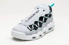 The Nike Air More Money Wolf Grey is featured in another look and it's dropping at Nike stores on June Men's Shoes, Nike Shoes, Sneakers Nike, Nike Basketball Shoes, Wolf, Nike Air, Footwear, Workout, Money
