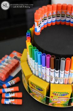 How to Make a School Supply Cake #create2educate