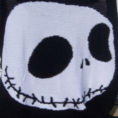 FREE SHIPPING Skeleton Crocheted Blanket Twin by 1craftygrandma
