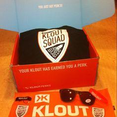 I just got PERK'D! Thanks @KloutSquad @Klout @Kloutperks #schwag #Klout