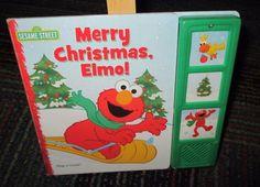 SESAME STREET, MERRY CHRISTMAS ELMO! PLAY-A-SOUND BOARD BOOK, GREAT READ GUC
