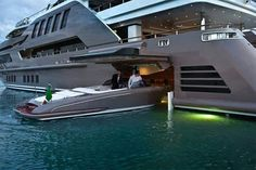 I'll just park my speed boat in my giant luxury yacht, no big deal Super Yachts, Big Yachts, E90 Bmw, Grand Luxe, Fontainebleau, Belle Villa, Yacht Boat, Boat Dock, Winning The Lottery