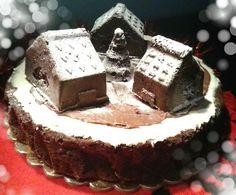 Torta+villaggio+di+babbo+natale