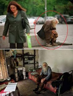 98 year old Dobri Dobrev, a man who lost his hearing in the second world war, walks 10 kilometers from his village in his homemade clothes and leather shoes to the city of sofia, where he spends the day begging for money. It was only recently discovered that he has donated every penny he has collected — over 40,000 euros — towards the restoration of decaying bulgarian monasteries and churches and the utility bills of orphanages, living instead off his monthly state pension of 80 euros.
