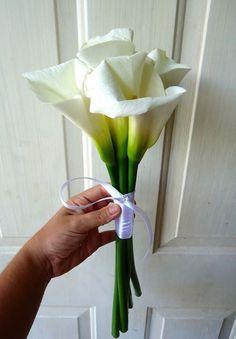 CBR278 Weddings Riviera Maya Bridesmaid bouquet white alcatraz / ramo de madrina de alcatraz