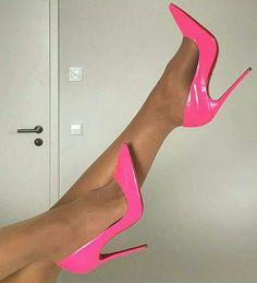 high heel boots over the knee Rosa High Heels, Pink High Heels, Sexy High Heels, Womens High Heels, Pink Pumps, High Heel Boots, High Heel Pumps, Pumps Heels, Heeled Boots