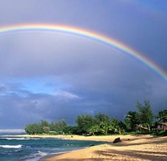 Rainbow in paradise. I will go there
