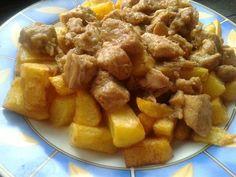 Brassói aprópecsenye, jó fokhagymásan Pork Dishes, Apple Pie, Sweet Potato, Ale, Potatoes, Vegetables, Ethnic Recipes, Desserts, Food