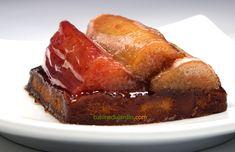 La rhubarbe nous régale de sa saveur unique, acidulée et printanière. Voici une tartelette minute où elle est confite quelques minutes dans un sirop parfumé à la rose. Tempura, Fondant, Tartelette, Minute, Dessert, Saveur, Meatloaf, Voici, Beef