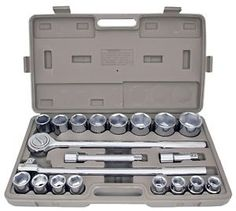 """21pc sae 34 drive socket set w storage case jumbo ratchet wrench extension new - Categoria: Avisos Clasificados Gratis  Item Condition: New 21pc SAE 34"""" Drive Socket Set w Storage Case Jumbo Ratchet Wrench Extension NEWPrice: US 64.95See Details"""