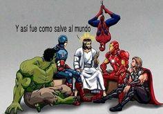 Todo superheroe tiene un maestro y ese es Jesus.