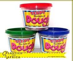 Let the kids have endless #fun with these Teddy buckets of dough, available from your nearest #PlasticsforAfrica branch