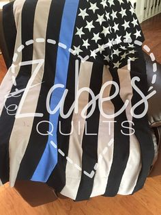 Thin Blue or Red Line Throw/ Blanket FREE SHIPPING by ZabesQuilts