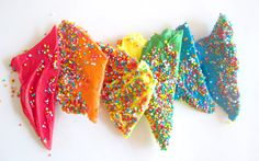 Rainbow Chocolate Bark   7 Rainbow Recipes That Look Impressive But Are Actually Easy AF