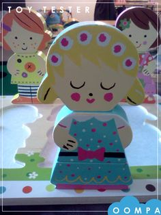Dolls Chunky Puzzle sent to one of our #Oompatoys Toy Tester. One of our favorites! #janod