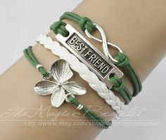 Lily flower infinite charm bracelet in silver by themagicbracelet, $4.99