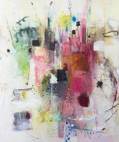 "Michelle BRETON ""Chez Jeanne"" Mixed Media on Canvas, 183 x 153cm"