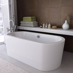 Freestanding bathtubs are the ideal solution to revamping your bathroom and giving it that cool and contemporary look you're going for. http://www.victorianplumbing.co.uk/Corey-Double-Ended-Round-Freestanding-Bath-NFB001.aspx