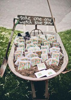 Seed Packet Wedding Favors  - 10 Unique Wedding Ideas on the Wedding Paper Divas blog. #wedding