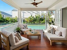 New Hampton house extension at Hawthorne / Brisbane. Renovation to existing early 1900 Queenslander house. House Exterior, Pool House Designs, Small House Australia, Australia House, Building Companies, Beach House Interior, Building Aesthetic, Building A House, Hamptons House Exterior