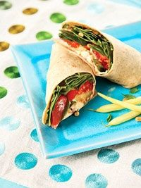 Mediterranean wrap sandwich - www.weight-loss-r... The #1 weight loss product review site on the web!