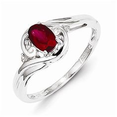 925 Sterling Silver Colored w/ White Gold Diamond & Ruby Engagement Ring (.01 cttw.) (2mm) by Sonia Jewels http://blackdiamondgemstone.com/colored-diamonds/jewelry/wedding-anniversary/engagement-rings/925-sterling-silver-colored-w-white-gold-diamond-ruby-engagement-ring-01-cttw-2mm-com/