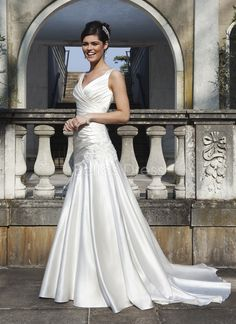 5a557e77836 Sincerity wedding dress style 3738 An A-line gown complemented with a  beaded motif at the hip