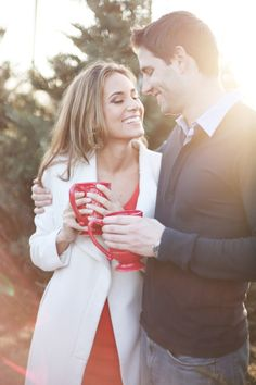 Christmas came early with this e-sesh! http://www.stylemepretty.com/texas-weddings/dallas/2013/12/24/christmas-tree-farm-engagement-session/ | Photography: Feather & Twine - http://featherandtwinephotography.com/