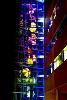 Umbrella Lights at Children's Hospital Omaha NE