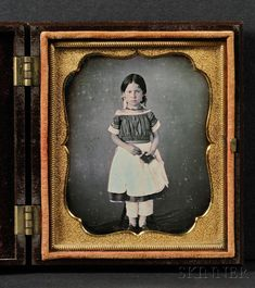 Daguerreotype Portrait of a Young Girl Holding a Book