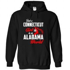 CONNECTICUT-ALABAMA Girl 05Red - #gift ideas for him #fathers gift. BUY-TODAY => https://www.sunfrog.com/States/CONNECTICUT-2DALABAMA-Girl-05Red-Black-Hoodie.html?68278