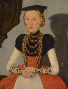 Young Woman by Lucas Cranach the Younger, Kuntshistoriches Museum Vienna, c 1560s