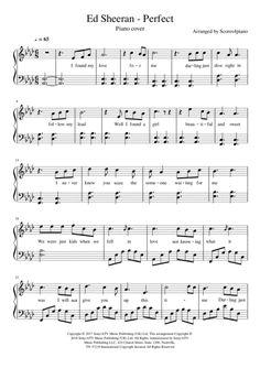 Perfect - Ed Sheeran (Piano cover) Easy Piano Sheet Music, Guitar Sheet Music, Music Chords, Violin Sheet Music, Piano Music, Piano Sheet Music Classical, Guitar Chords, Ed Sheeran, Guitar Tabs Songs