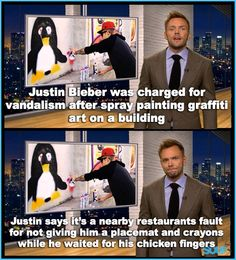 Justin Bieber on the Soup