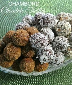 Chambord Chocolate Truffles have the famous liqueur