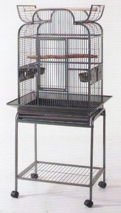 Wrought Iron Open Play Top Bird Small Parrot Cage With Metal Seed Guard and Removable Rolling StandBlack Hammertone For Sale https://birdhousesforoutside.info/wrought-iron-open-play-top-bird-small-parrot-cage-with-metal-seed-guard-and-removable-rolling-standblack-hammertone-for-sale/