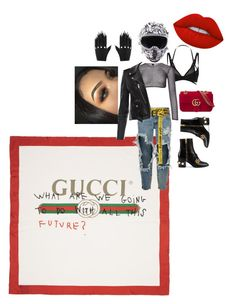 """Just A Mood/StyledbyMahir"" by mahirnebeu on Polyvore featuring Gucci, Myla, OneTeaspoon, PA5H, Off-White, Majesty Black, Lime Crime, gucci, streetwear and wardrobestylist"