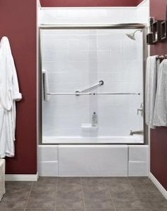 Looking to upgrade your tub? At Bath Fitter NW we utilize an innovative process that's fast and affordable. You pick your style, color and fixtures. Then, we custom manufacture your tub and install it. Bathtub Remodel, Shower Remodel, Bath Towel Sets, Bath Towels, Bath Fitter, Bathtub Shower, Bathroom Bath, Custom Shower, Simple Bathroom