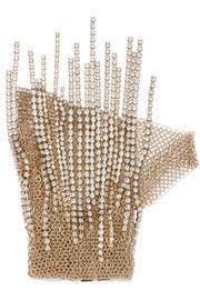 Gold-tone crystal glove