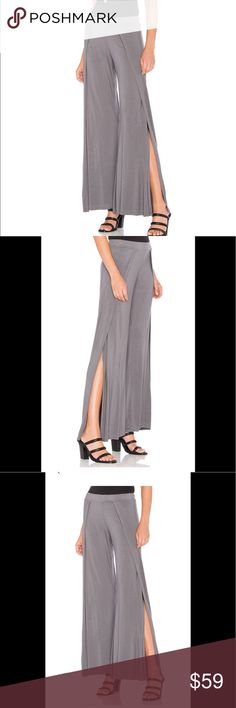 🌻🆕 Michael Lauren Troy-Wide Leg Pant 🍃These Michael Lauren wide leg pants are sure to become your favorites. Jersey knit fabric, elasticized waist and surplice leg openings, oh my!🍃 ▪️96% rayon  6% spandex Michael Lauren Pants Wide Leg