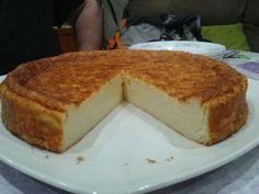 Mi tarta de queso. Relizada con queso de untar