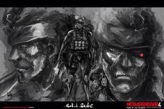 Solid Snake by MeganeRid on DeviantArt Metal Gear Solid, Video Game Characters, Gears, Snake, Fan Art, Deviantart, Artwork, Painting, Boss