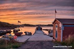 The work is done, the dog is fed, the kids are in bed, and it's time to watch the day end gracefully in Twillingate, NL, while admiring the wharf, boats, and fishing gear down by the ocean. Photo by Julian Earle.